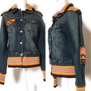 Rubber doll bohemian jacket, Sz xl, multicolored